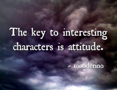 The key to interesting characters is attitude. mooderino