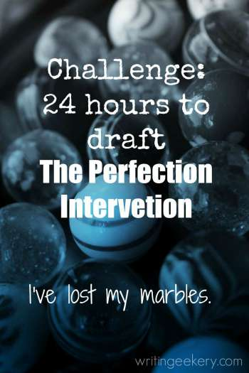 Live-blogging the writing of The Perfection Intervention